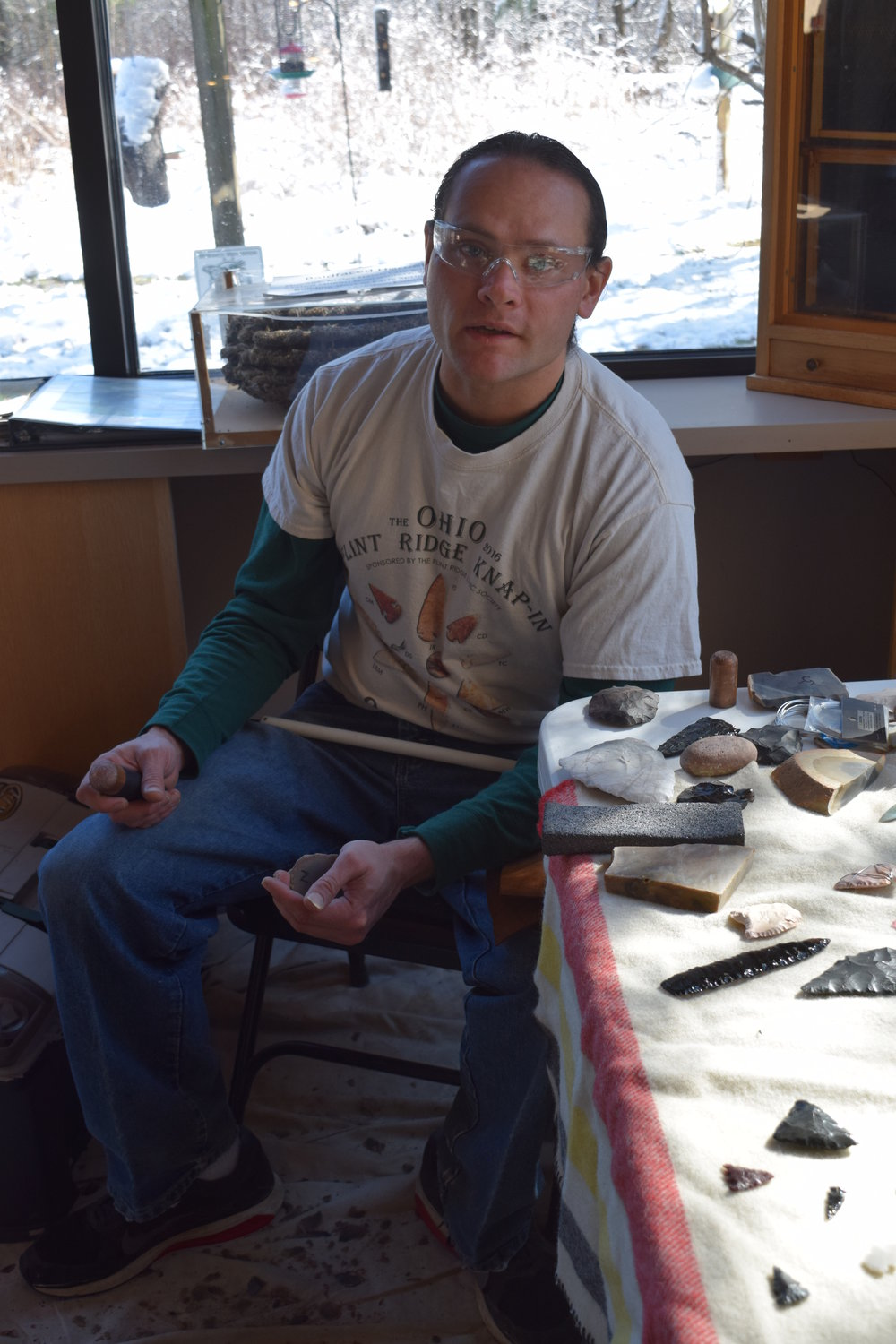 Jeremy Snyder teaches Archaeology at the Mohican Outdoor School in Belleville, Ohio. He also teaches classic flint knapping techniques.