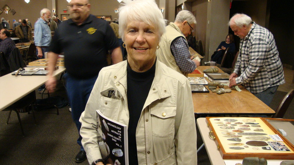 Elaine Holzapfel, author of Archaeology and Artifacts of Darke County, Vol. 1 and Vol. 2