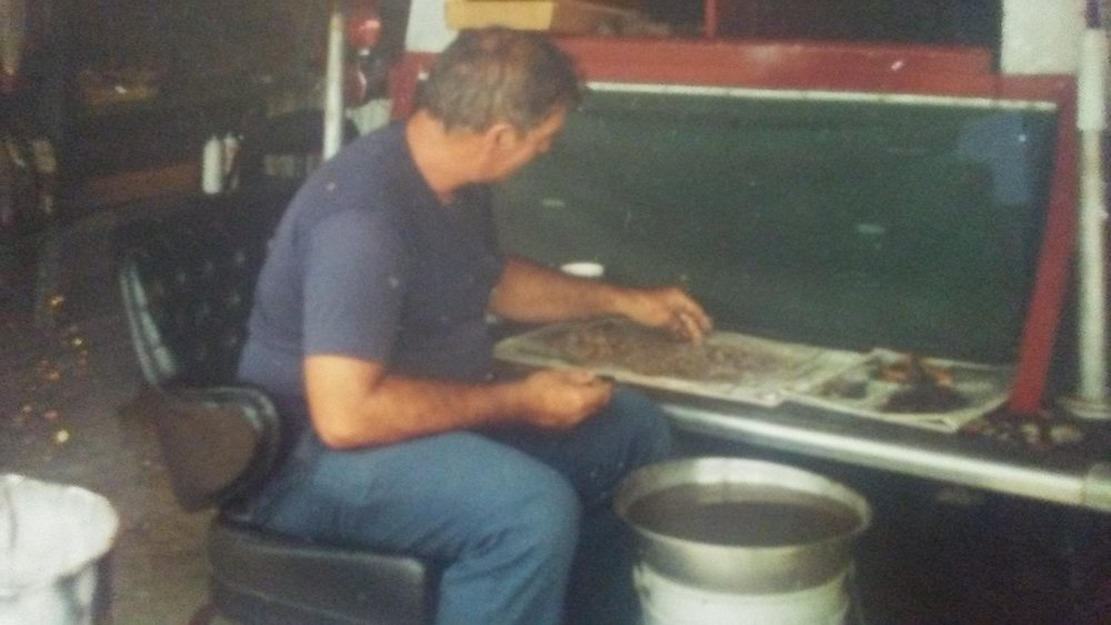 Gene Edwards working on feature material circa 1992