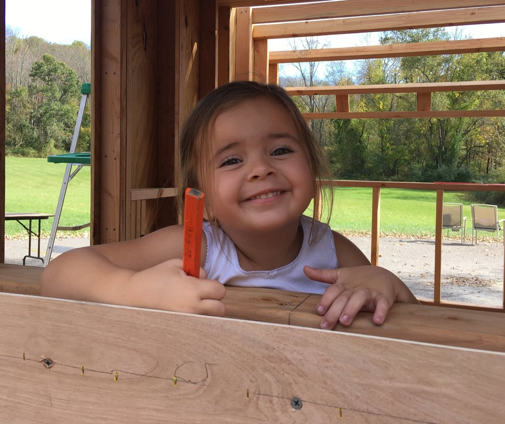 World's youngest vintage camper enthusiast! And the real boss around here. -