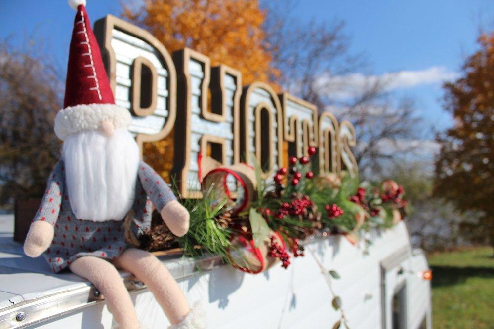 Cornelius - our vintage camper elf!