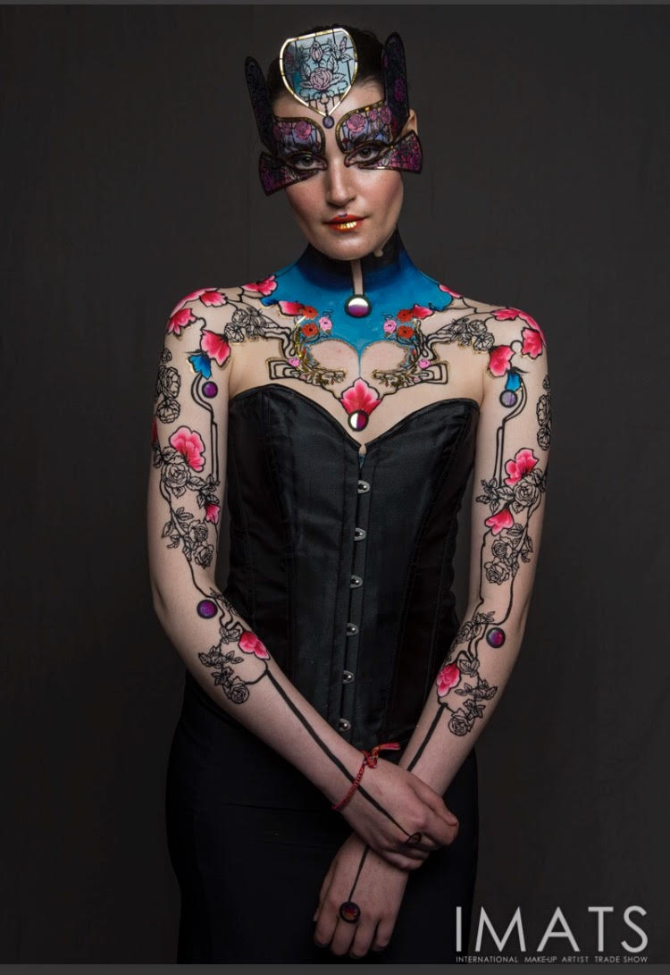IMATS 2017 collaboration : Face lace, mask and makeup by Phyllis Cohen, body art by Brierley Thorpe   https://face-lace.com/
