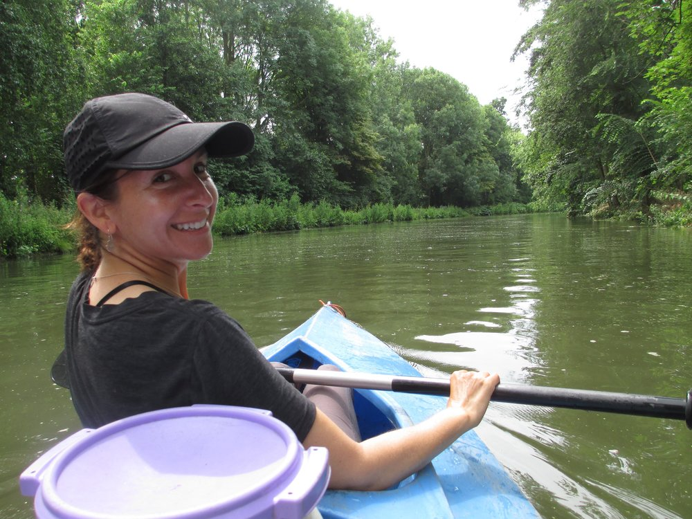 Mindy Schlossberg on a Kayak