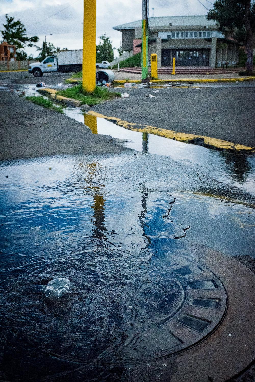 Sewage in Cantera, San Juan, PR