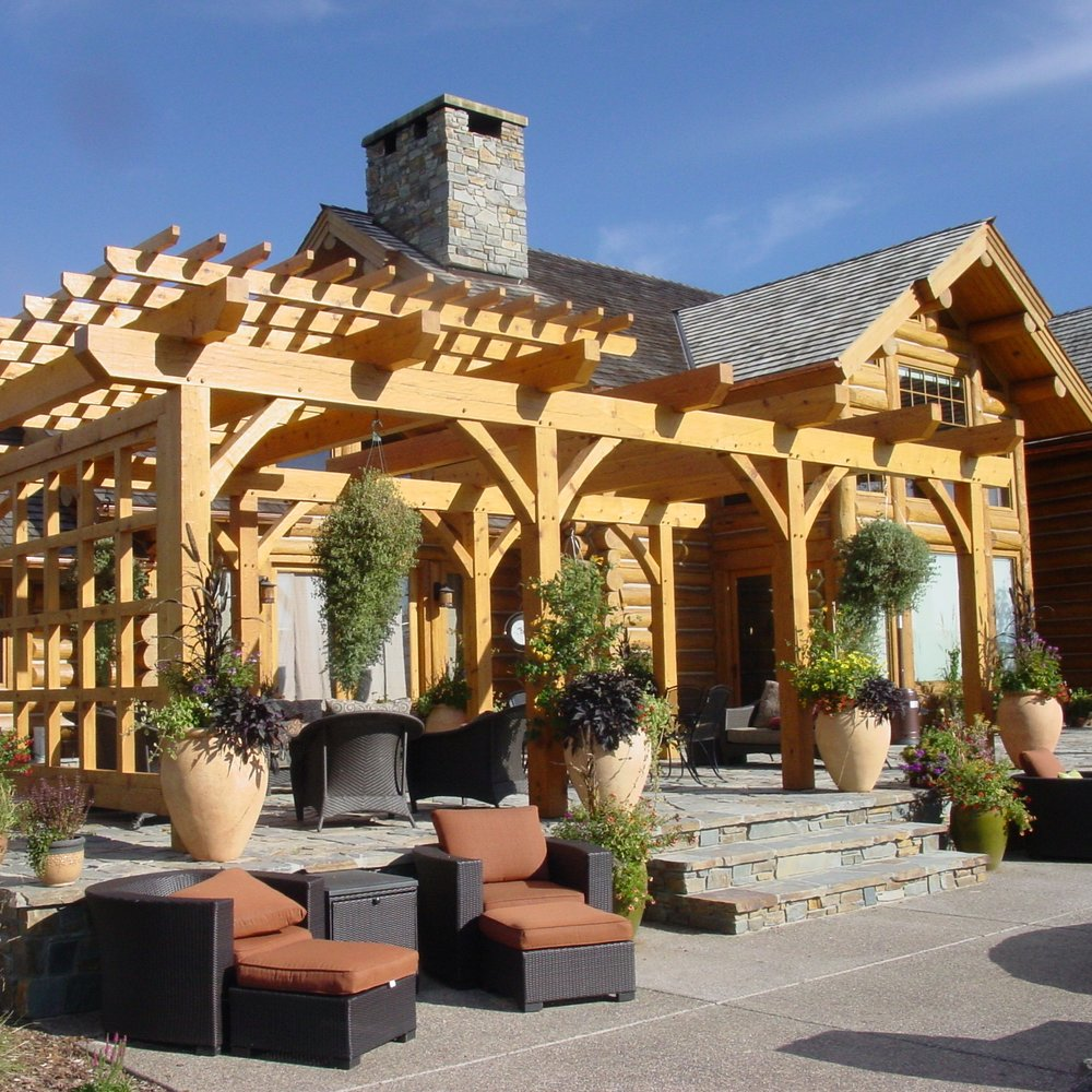 Outdoor Timber Trusses