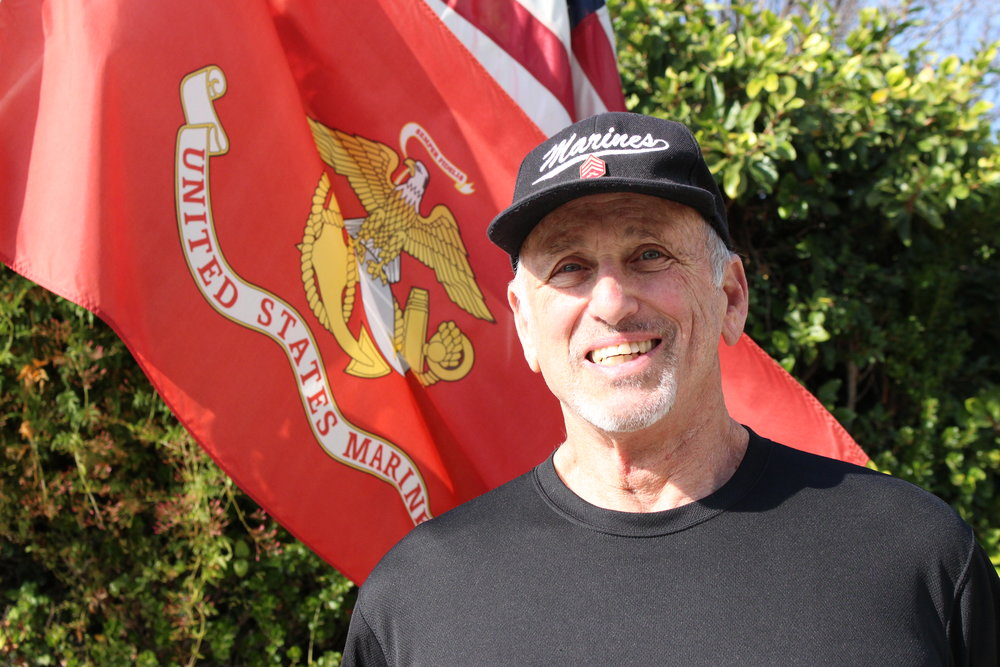Richard G. Tarlow, J.D. - At his home in Southern California, where he proudly flies his flags for Corps and Country, and always answers to any mention of