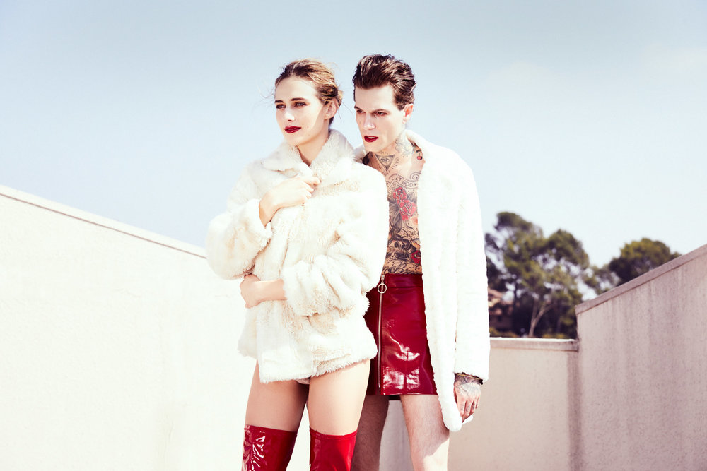 "Jesse Rutherford and Devon Lee Carlson in ""I'm Your Lover, I'm Your Zero"""