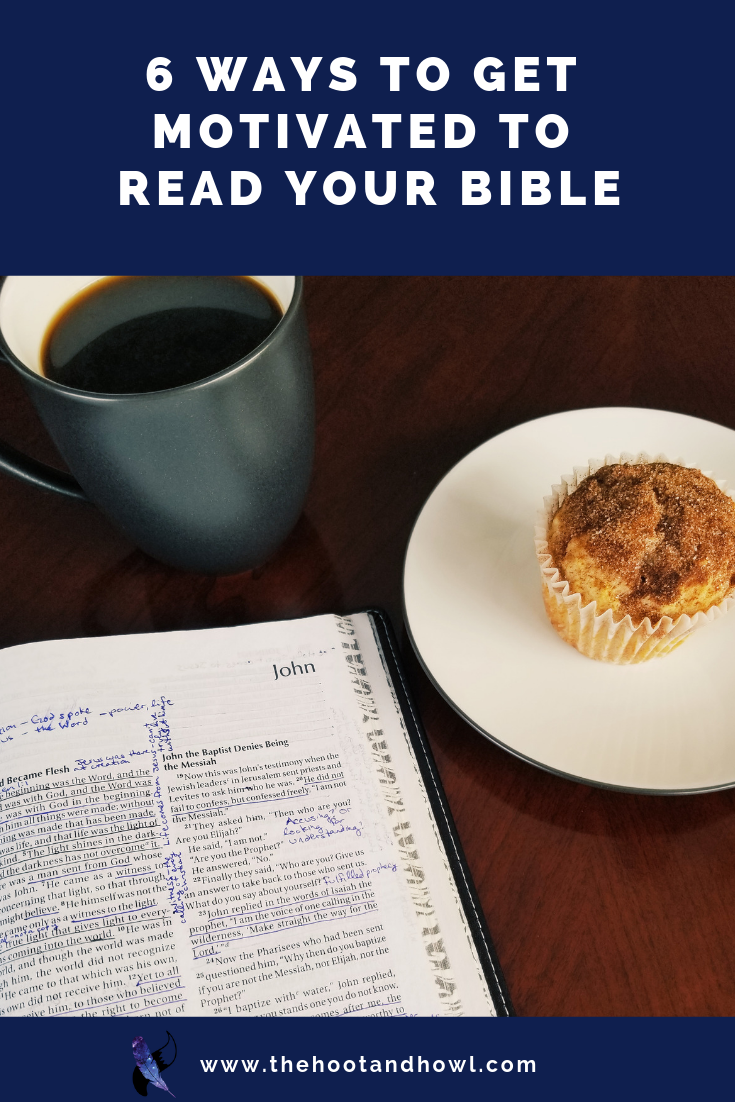 You know it's important to spend time with God, but what do you do when you just don't have the motivation to read your Bible? 6 Ways to help you get motivated for your quiet times.
