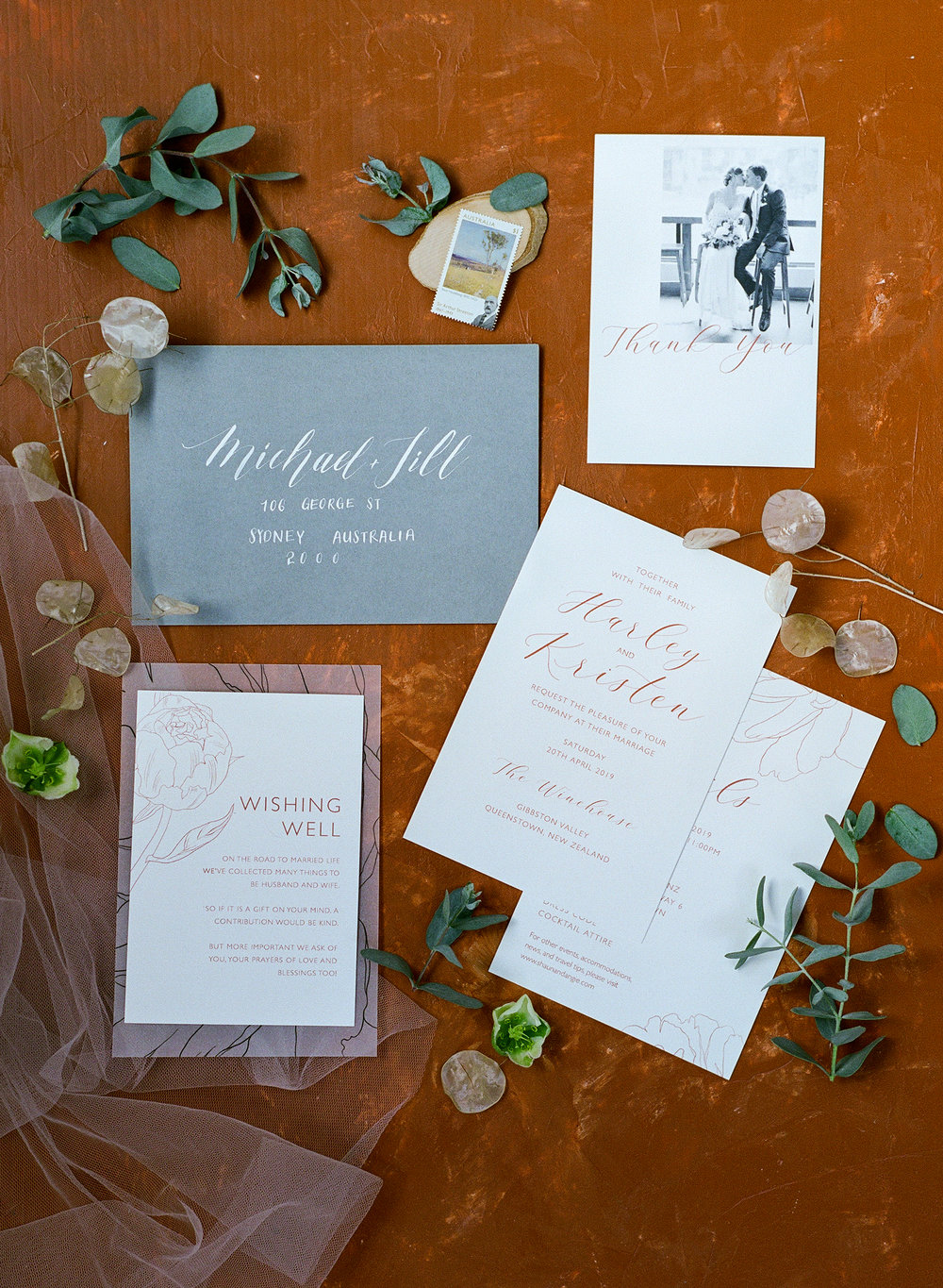 Warmth   Warmth is one of our favourite line illustration wedding suites. Simple yet elegant. You can pare them up with hand written calligraphy envelopes to bring the details to extreme! Wow your guests!