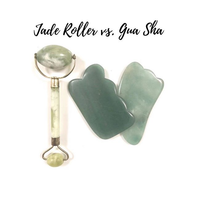 ⠀⠀⠀⠀⠀⠀⠀⠀⠀ If you booked a Cosmetic Treatment with me, you'll be familiar with these two skincare tools. Although, these two tools have similar benefits they have their differences as well. ⠀⠀⠀⠀⠀⠀⠀⠀⠀ ✨Facial Gua Sha | Comes in different shapes. Often used with a 'scraping motion' for: 1. Fine lines & wrinkles 2 Increase blood/fluid circulation on your face 3. Scalp your facial muscles and jawline for a defined and slimmer look 4. Drain lymph nodes  5. Other concerns such as: headaches, muscle tension, stress ⠀⠀⠀⠀⠀⠀⠀⠀⠀ ✨Jade Rolling | Often used with a 'rolling motion' for:  1. Puffiness  2. Dark circles 3. Improve skin elasticity for tighter and non sagging skin 4. Soak skin products into skin ⠀⠀⠀⠀⠀⠀⠀⠀⠀ With both tools, you can expect to see less breakouts, puffiness, hyper pigmentation, and MORE healthy, smooth, glowing skin. However, I personally, like the Facial Gua Sha more because you can see faster results. ⠀⠀⠀⠀⠀⠀⠀⠀⠀ #acureleafclinic #acupuncture #cosmeticacupuncture #facialacupuncture #facialrejuvenation #cosmetics #beauty #organic #naturopathicmedicine #natural #health #wellness #facial #skingoals #acne #antiaging #skintherapist #holisticskincare  #guildford #guasha #spa #esthetician #jaderoller #lifestyle #hormonehealth #hyperpigmentation #wrinkles #herbalmedicine #skincare #facial #clearskin