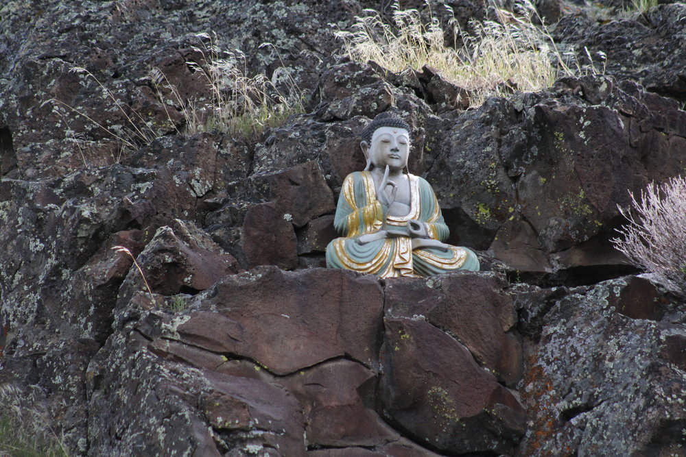 Location Classified - Buddha's Perch    You must find this one yourself (and maybe find yourself along the way).    We found this most Zen spot on the river during the summer of 2017, not long after it's benefac  ttors created it.  It's cool.