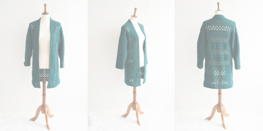 Introducing the March Cardigan - Now available as a finished piece or pattern for you to make one for yourself.