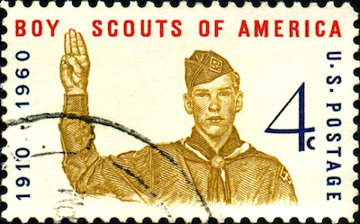 Scouting stamp Boy Scouts of America. US Postage