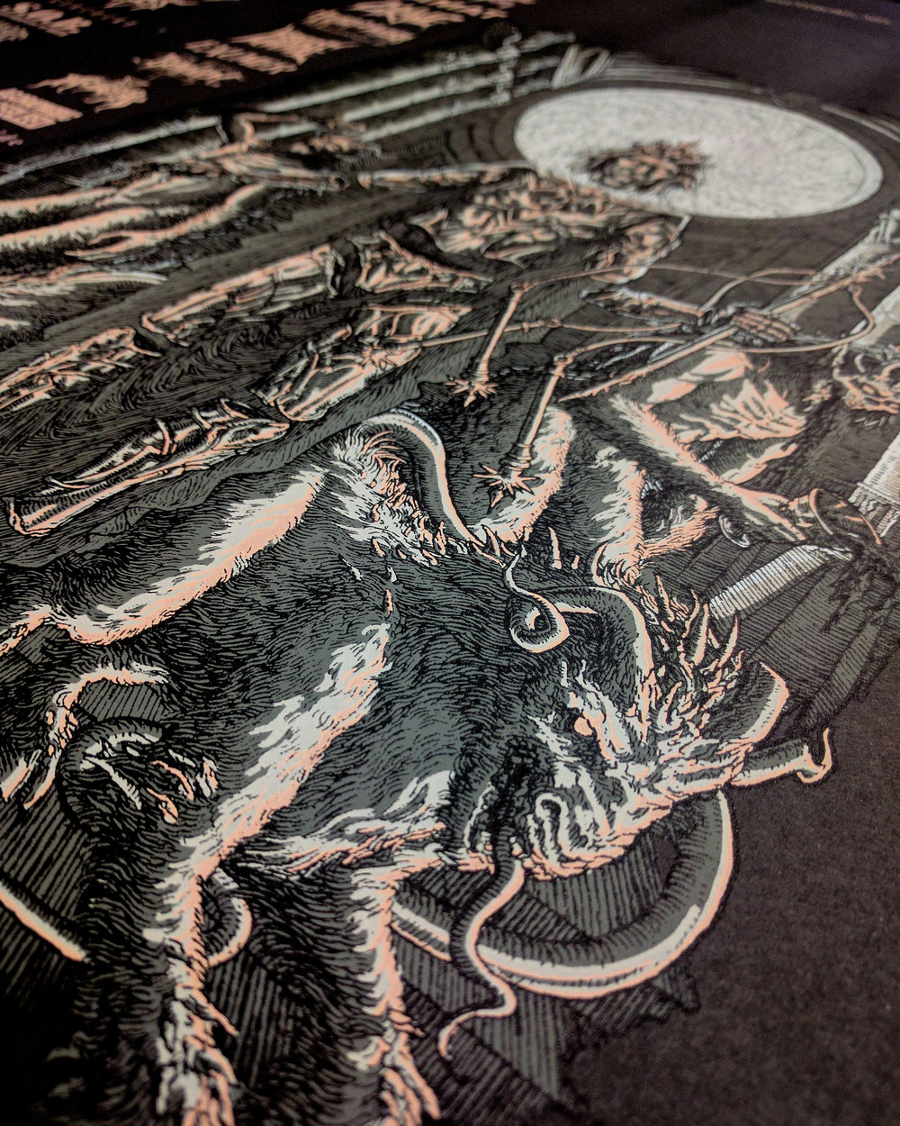 Maryland Deathfest XV screen printed poster