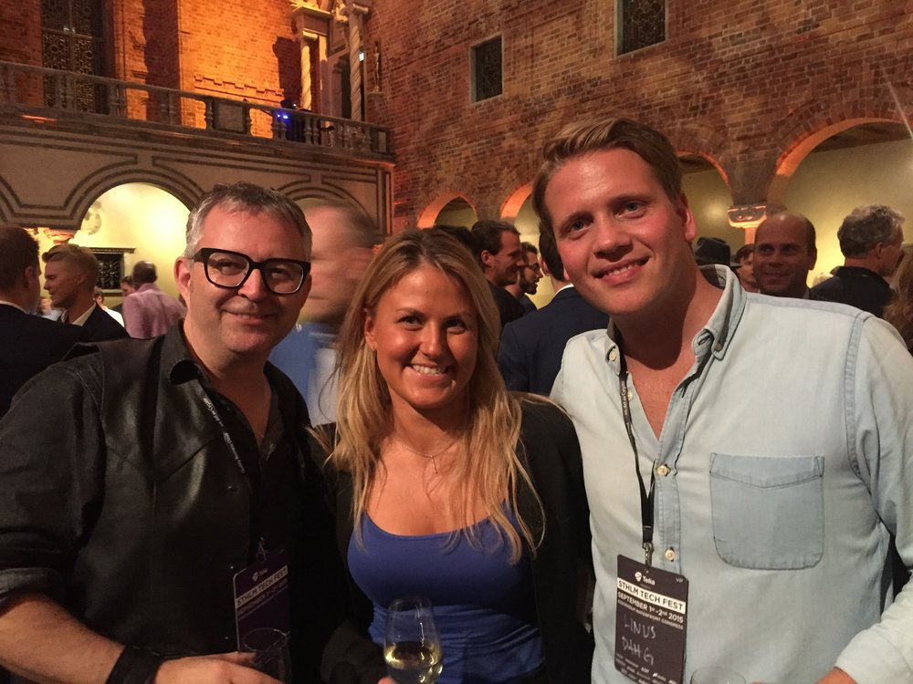 VIP mingle in the beautiful city hall in Stockholm before the conference, Sthlm Tech Fest, with the inspiring Mike Butcher from TechCrunch and investor Linus Dahg from Inventure.