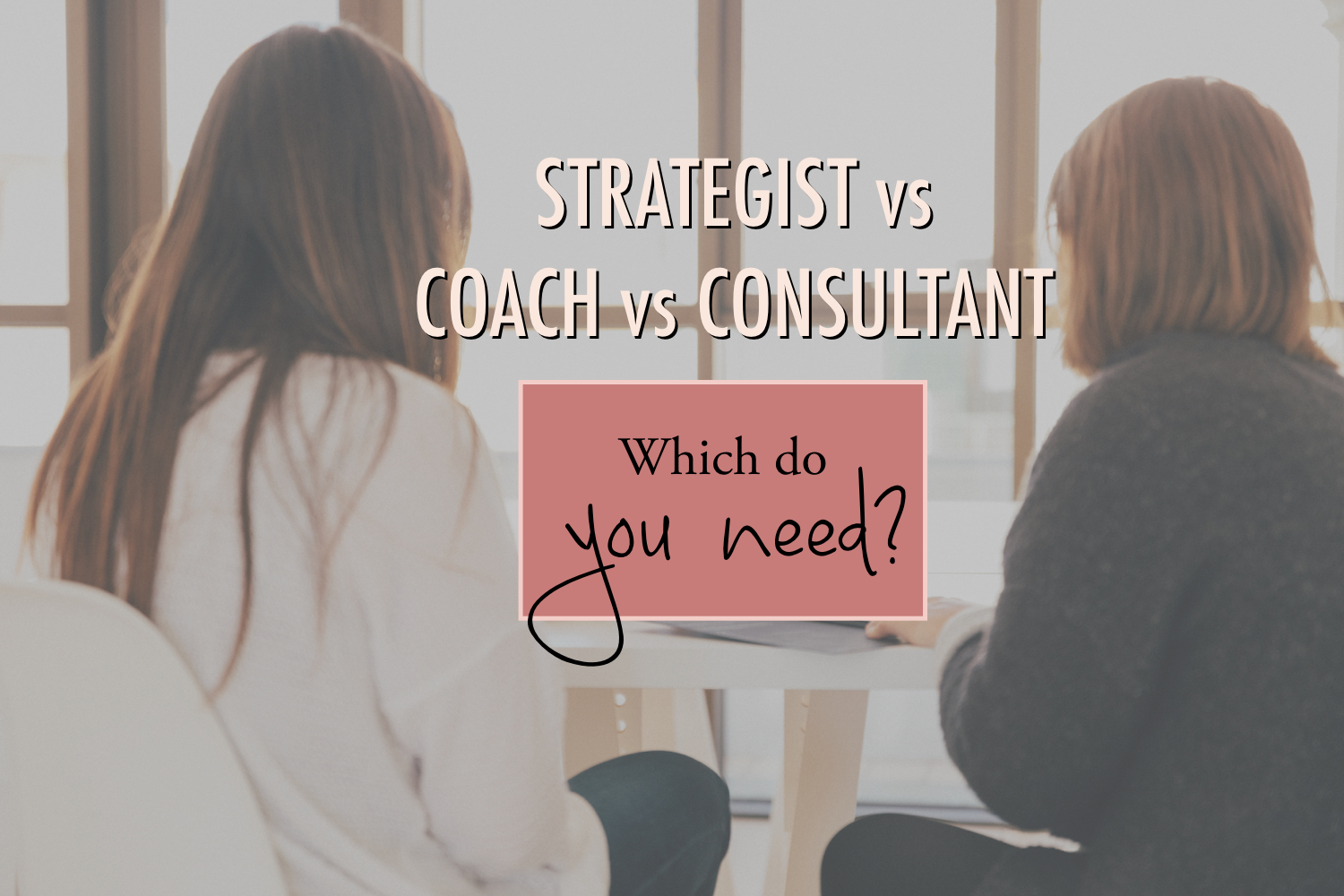 Strategist vs. Coach vs. Consultant Which Do You need — Stacy ...