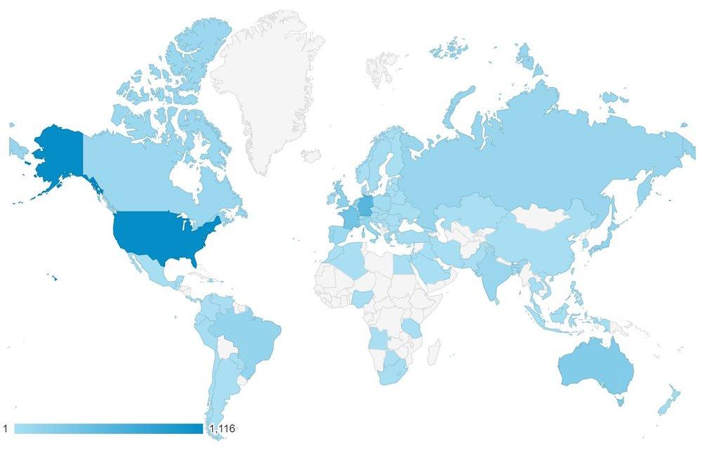 Vistas de WASEmag.com en todo el mundo - actualizado el 31 de octobre de 2018