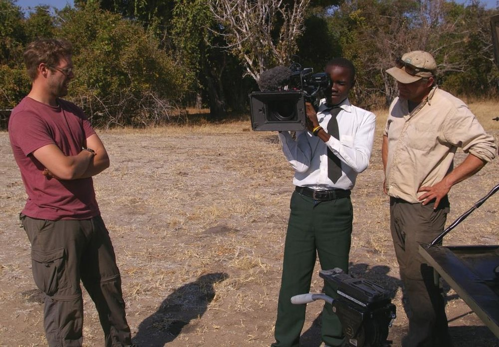 Samson's aspiration is to become a wildlife film producer to expose the world to the wonders of his country and African conservation issues.