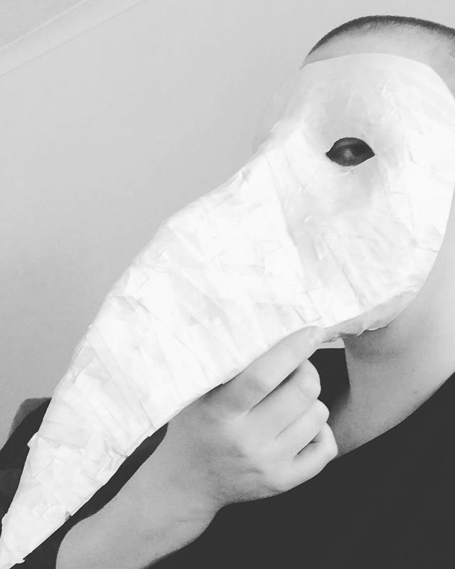 Working on a scary mask for a sexy burlesque shoot with @iraluxuria for #halloween. Sorry to that person that I know this will really freak out, I just had to show you all! #blackandwhite #blackandwhitephotography  #melbournephotography #melbournephotographer  #melbourne  #melbourneburlesque #melbourneburlesquephotographer #melbourneportraitphotographer #melbourneportraitphotography #melbournetheatre  #melbournedrag #melbournedragphotographer  #Queer #Queerfriendly #mebourneboudoirphotographer #mebourneboudoirphotography