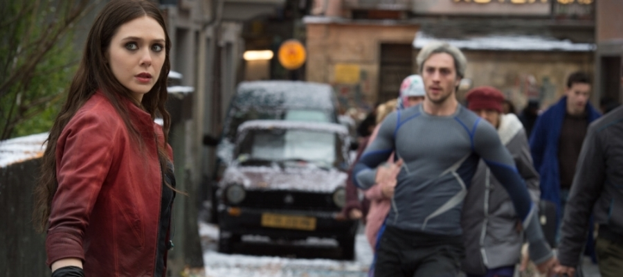 Scarlet Witch (Elizabeth Olson) and Quicksilver (Aaron Taylor-Johnson) make their MCU debuts by showing that no one kind of path can make an Avenger.