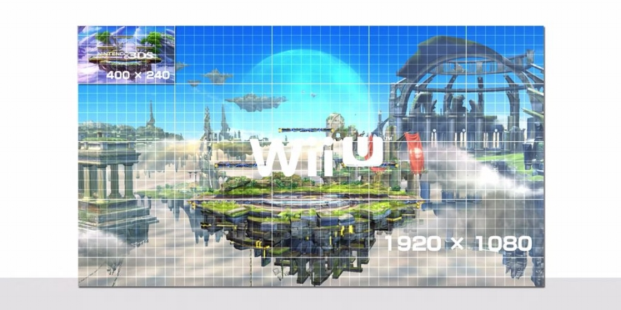 As shown in the   Smash Bros. -based Nintendo Direct video ,  Super Smash Bros. for Wii U  is rendered at full 1080p resolution, a massive step up from the native res of the 3DS version.
