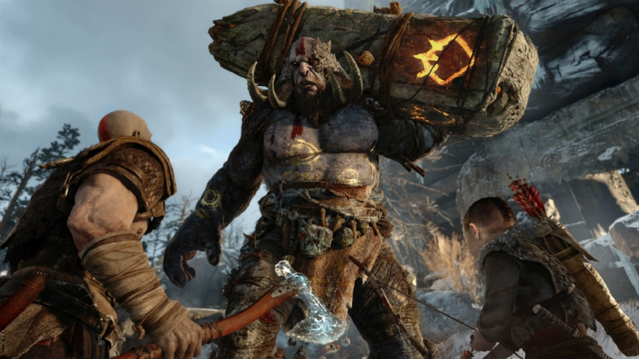 The combat on display in  God of War  is quite a departure from series norms, relying far more on skill and spatial awareness than the button-mashing nature of the original titles.