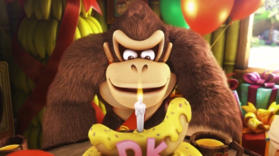 As tragic as it is, it looks as if the Snowmads decide to raid Donkey Kong Island on the big guy's birthday.