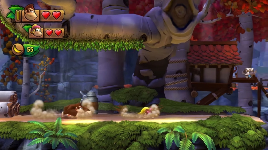 The fast-paced, unforgiving style of 2010's  Donkey Kong Country Returns  is back with a vengeance in  Tropical Freeze .