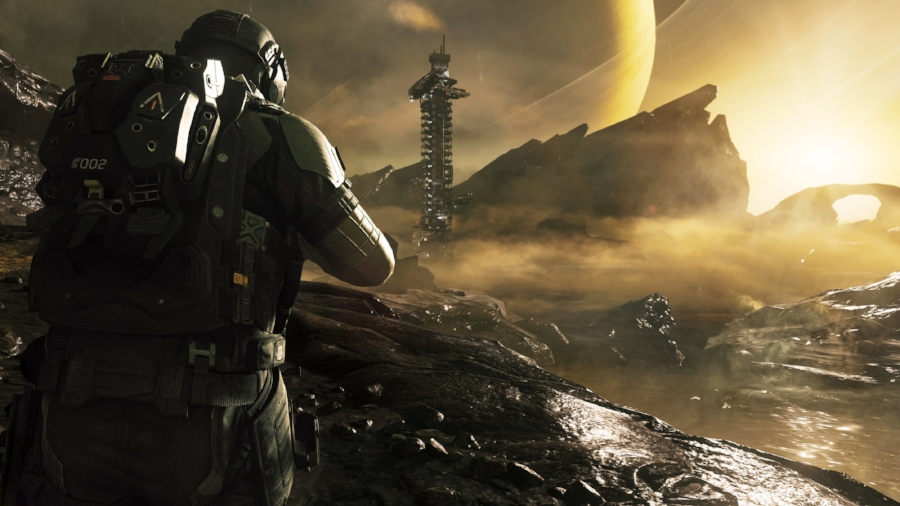 Breathtaking vistas like these are pretty unusual for  Call of Duty , but the general design of the game's sweeping interplanetary campaign settings make for some of the series' most unique and well-designed environments.
