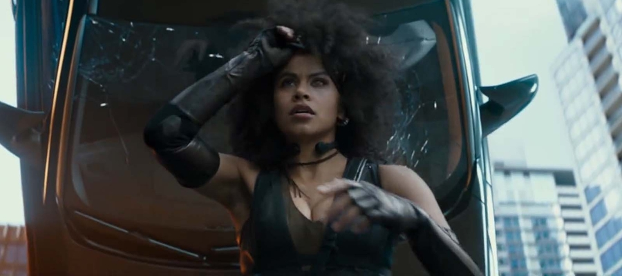 Zazie Beets' performance as Domino is one of the film's highlights, particularly when we see what she can really do with her luck-based superpower.