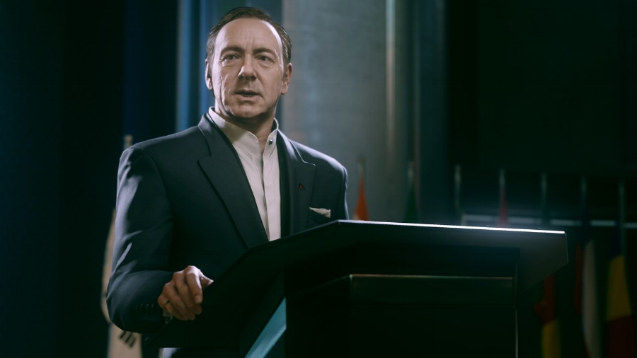 Kevin Spacey's performance as Jonathan Irons, the head of a corporate world superpower, is (unsurprisingly) one of the absolute best and most well-defined characters in the entire  Call of Duty  franchise.