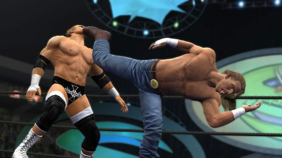 """Showcase Mode,"" exclusive to the new-gen releases of the game, picks two rivalries to let you play through. One of them is Triple H vs. Shawn Michaels from 2002-2004, which saw HBK come back full-time after a five year absence."