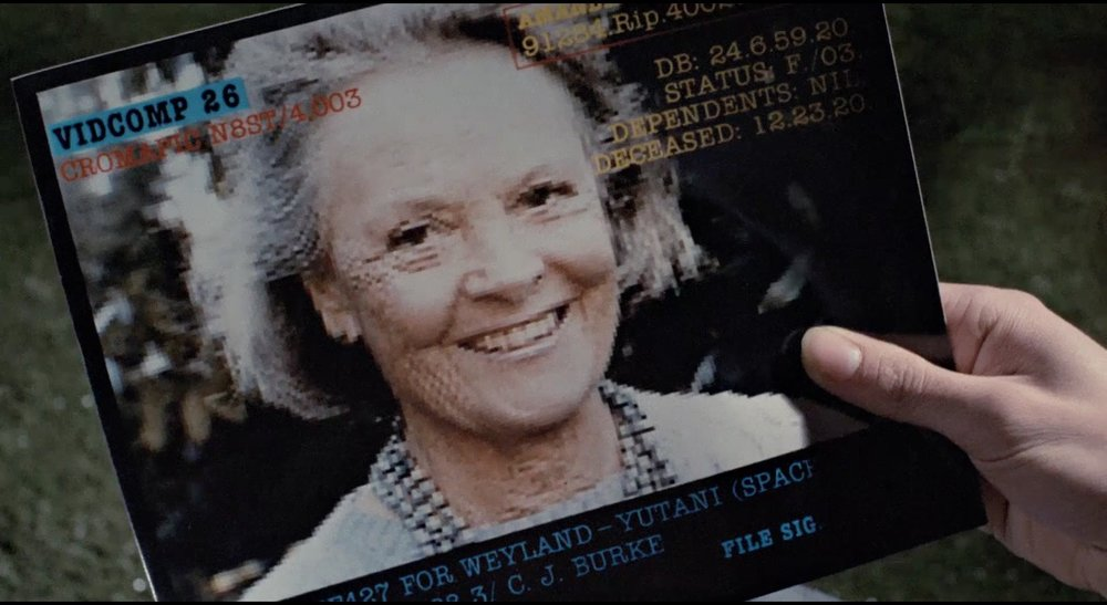 The game's story helps fill us in on the woman Amanda was in her youth, since all we'd seen of her was this picture from the  Aliens  special edition cut. She died two years before Ellen returned to Earth.