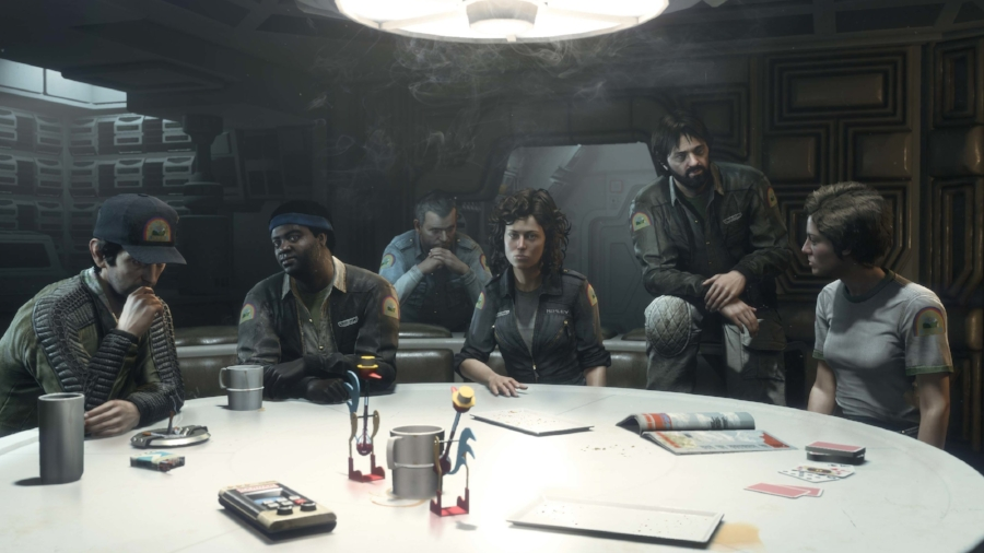 """Several cast members return to reprise their roles from the original film in DLC content and """" Nostromo  log"""" collecibles, including Tom Skerritt as Captain Dallas, Yaphet Kotto as Parker, Veronica Cartwright as Lambert, Harry Dean Stanton as Brett, and Sigourney Weaver as Ellen Ripley. Ian Holm's likeness is used for Ash, but a soundalike provides his dialogue."""