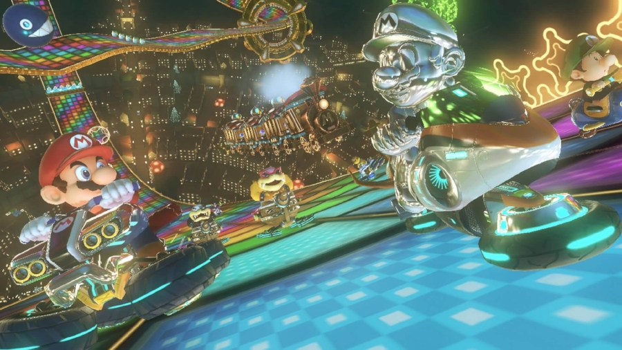 With wonderful dynamic lighting and texture effects and a smooth 60-fps frame rate,  Mario Kart 8  may be the best looking game Nintendo has ever made.