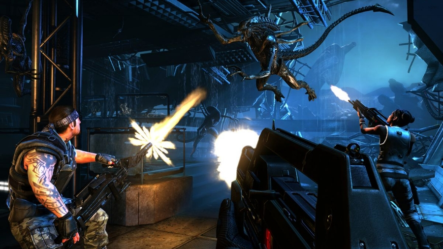 On the surface,  Aliens: Colonial Marines  evokes the action-packed elements of the film it takes its name from, but screenshots like this one don't capture just how broken many aspects of the gameplay experience really are.