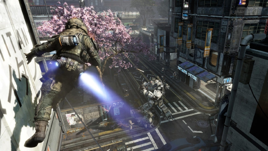 Verticality is the name of the game in  Titanfall , and with unprecedented mobility for your human Pilot, getting to the high ground has never felt so awesome.