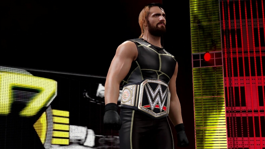 """Alongside the solid representation of the """"Attitude Era,""""  WWE 2K16  also brings the good in representing the organization of today. Current WWE World Heavyweight Champion Seth Rollins is one of the major players on the current roster."""
