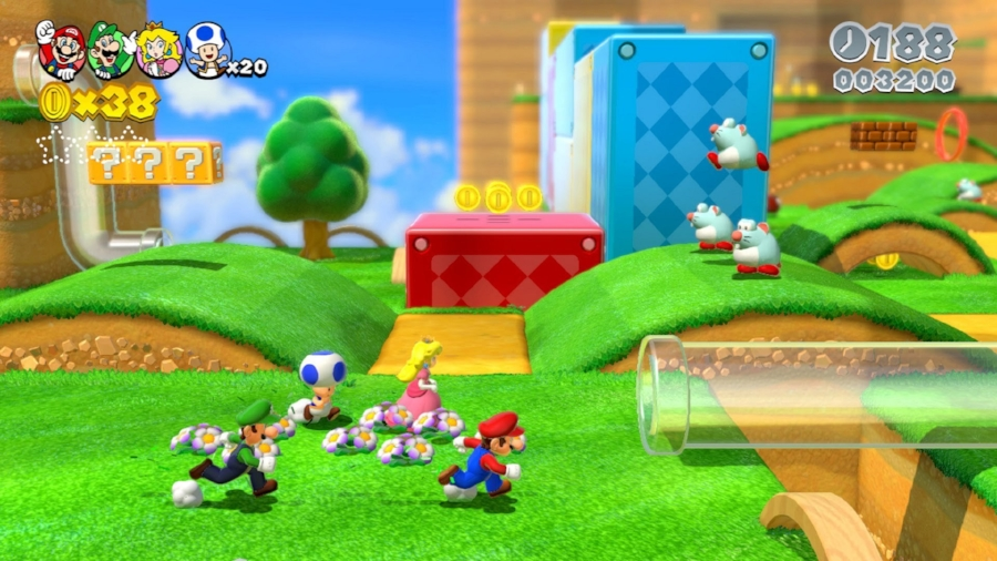 Not only is  Super Mario 3D World  the best that Mario has ever looked, but jumping in with up to three friends as some of the series' best characters is incredibly fun.