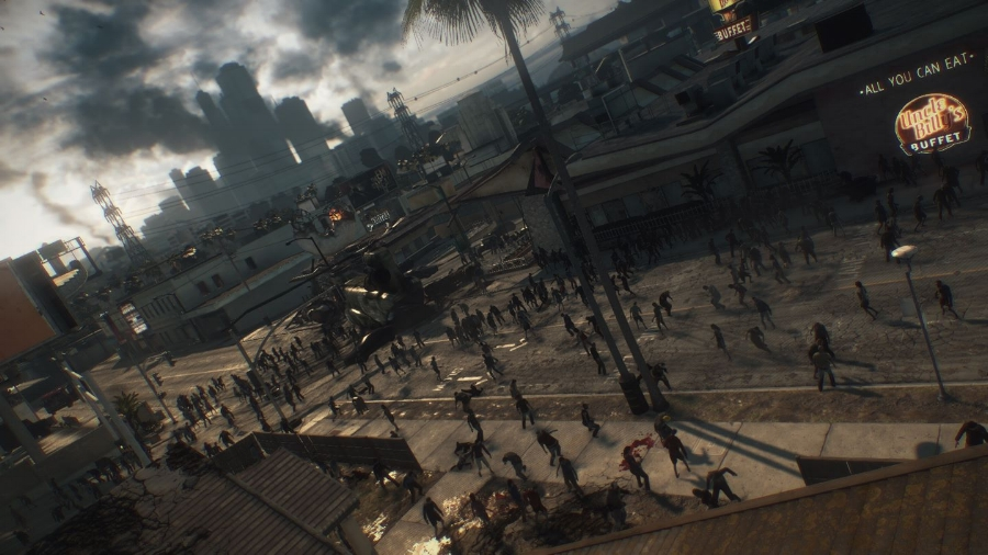 A lot of zombies on screen means that you'll probably find yourself in the middle of an undead horde more than once.
