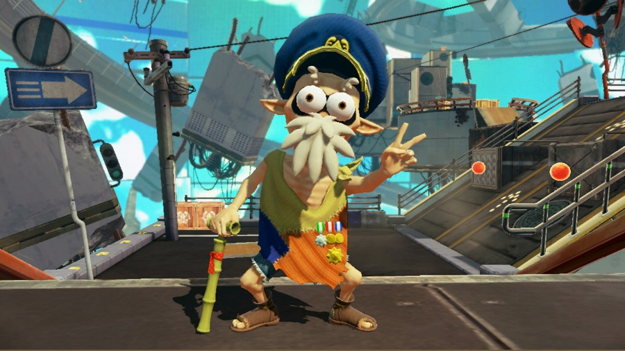 """The """"creepy"""" Cap'n Cuttlefish is your go-to boss inside the single player mode. The game itself called him creepy, not me!"""