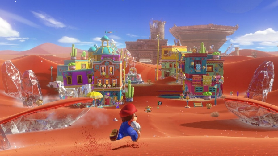 A whole host of beautiful new worlds to explore helps to show off just how exquisitely designed this game is, to say nothing of the creative ways it takes advantage of existing  Mario  series tropes while adding whole new ones.  Super Mario Odyssey  is never content with staying still, and players win because of it.
