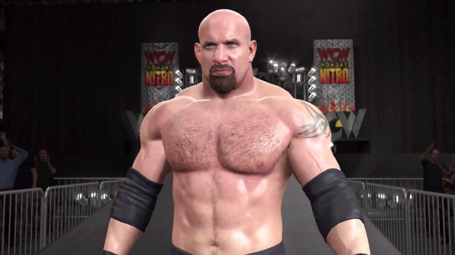 """This year's pre-order star is none other than the biggest star WCW ever originally produced during its lucrative run in the """"Monday Night War:"""" the man who went 173-0 and dominated the whole roster in spite of nWo dominance, Goldberg."""