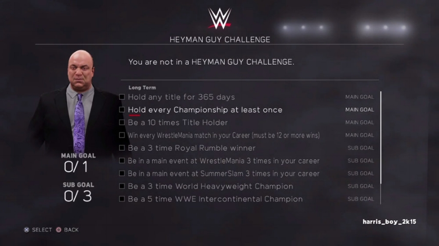 """Although missing a """"proper"""" single player mode, the returning """"WWE Universe"""" mode allows you to align yourself with the most infamous modern manager in the WWE: Paul Heyman."""