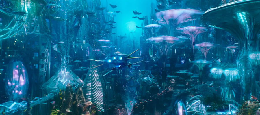 The underwater kingdom of Atlantis is beautifully realized, with much of the film's action and set-pieces having to operate from a whole different set of rules compared with land-based counterparts. The end result is beautiful and inventive.