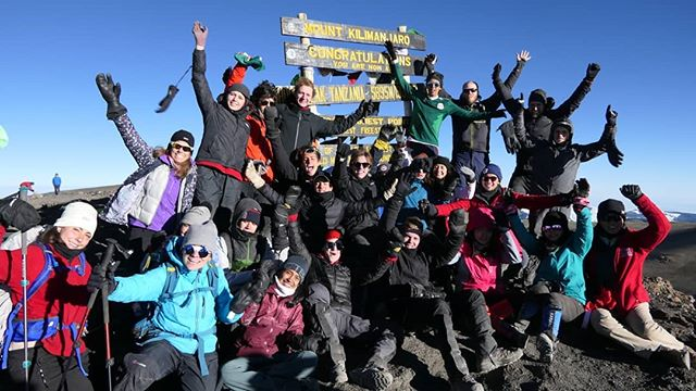 Last month, I hiked up this little hill with all these wonderful people! Unless proven otherwise, I think I may also be the first person to have piped at the summit? #Kilimanjaro @kingsedgehill