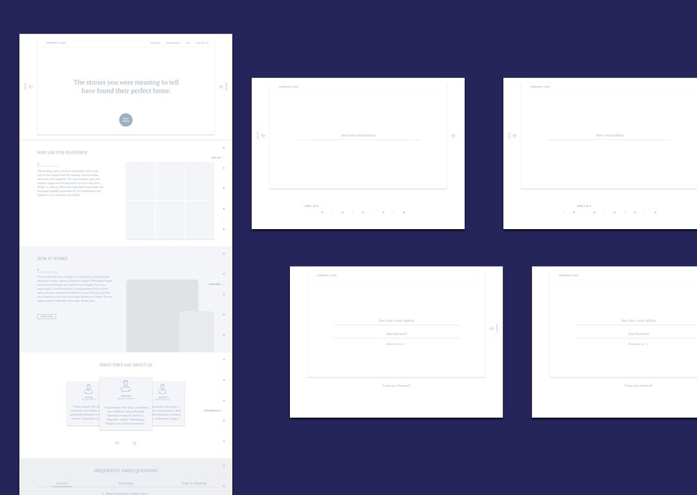 Presentation website UX.