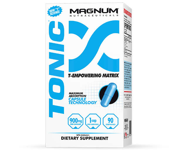 Magnum Tonic - Magnum Tonic offers the very best value for a natural testosterone support supplement. Using only the most advanced, innovative Pharmaceutical Grade ingredients, Magnum Tonic will increase your free-flowing testosterone in a matter of days. It has a potent supply of 4 of the top natural testosterone-boosting ingredients available. It is the most affordable and truly the best value for testosterone therapy.• You will not inhibit or disrupt your natural testosterone production• Every ingredient is Pharmaceutical Grade• There are no side-effects