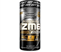MuscleTech ZM6 - • Supports Testosterone Production• Increase Muscle Strength• 480mg Zinc + MagnesiumPlatinum 100% ZM6 delivers a precise combination of zinc, magnesium aspartate and vitamin B6 shown to help maintain proper muscle function and help in tissue formation. What's more, the researched dose used in Platinum 100% ZM6 not only supports testosterone production but also helps increase muscle strength, making it an excellent addition to any supplement stack.