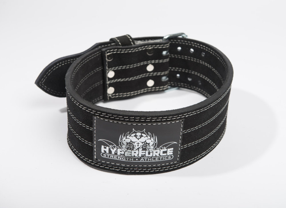 HyperForce Dual Prong Belt - Available in: S, M, L, XL, XXL, XXXLHyperForce weightlifting belts are made of 100% leather offering maximum lower back support you can count on.
